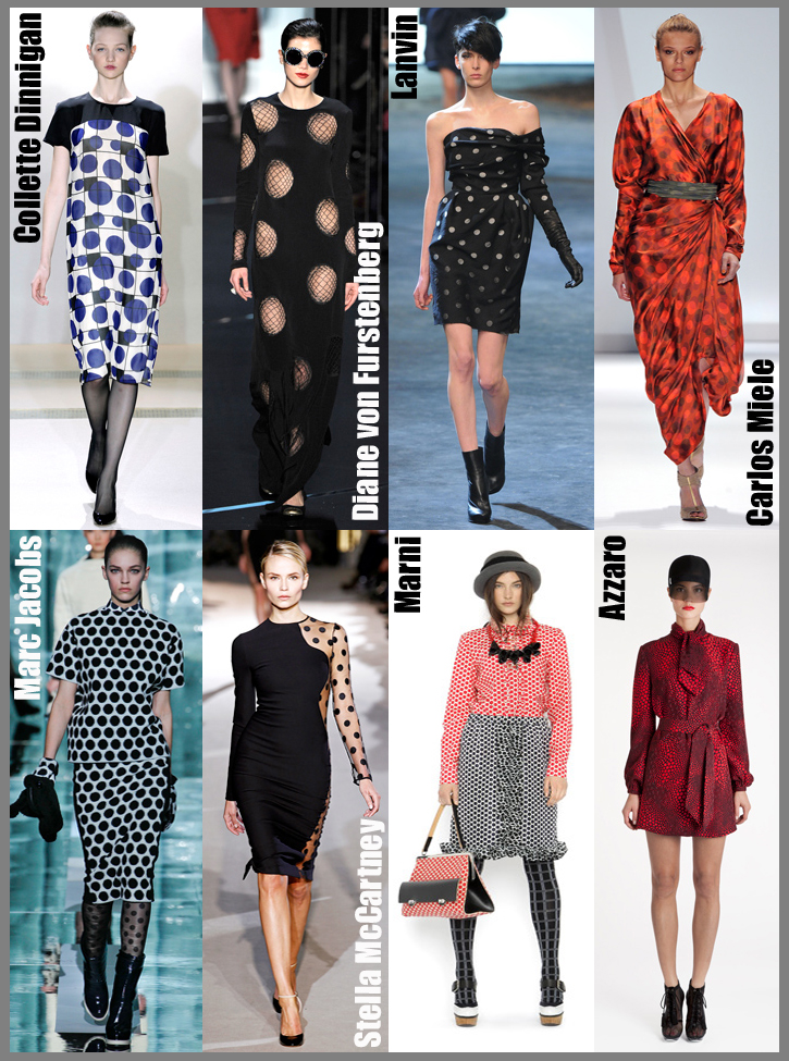 Polka dots are the new stripes - fashion trends for fall 2011