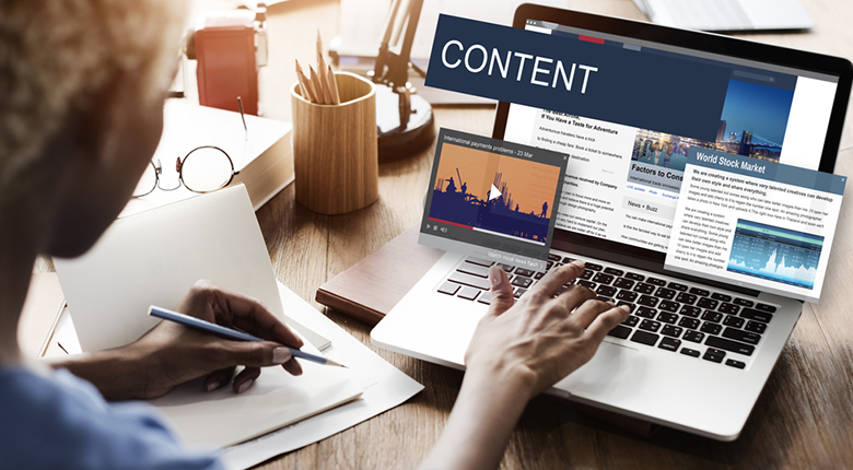 The content of the website